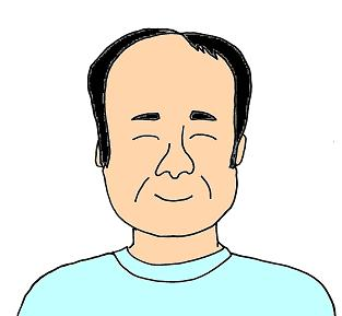所長 濱口誠一のイラスト